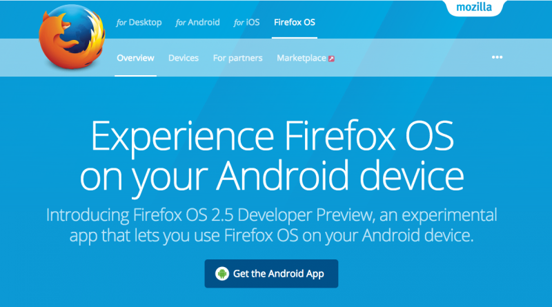 FireFox OS 2.5 on Android APP
