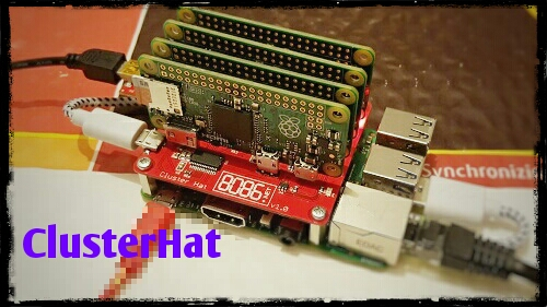 The raspberry Pi Cluster Hat