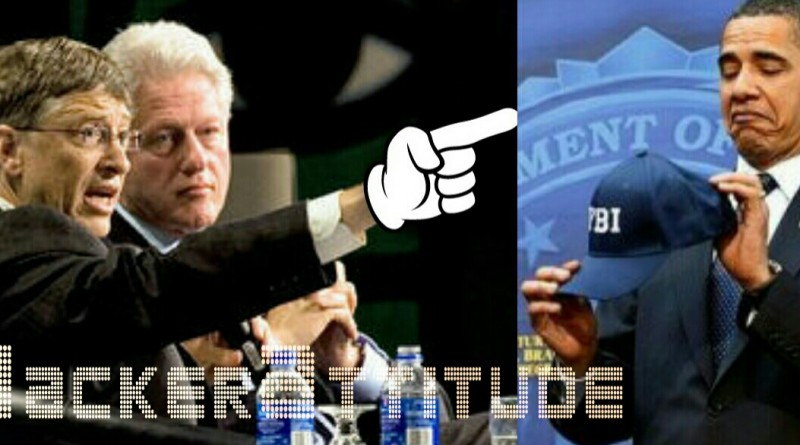 bill gates pointing his finger at obama